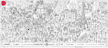 Poster à colorier – L'Histoire de France –  dès 4 ans