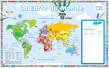 Les posters ardoises – La Carte du Monde - dès 4 ans