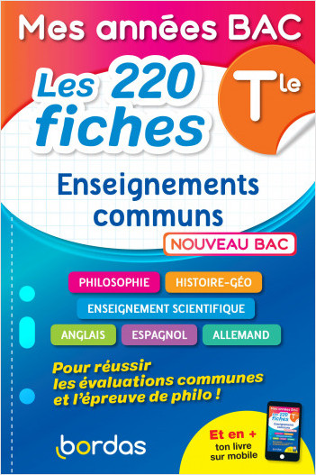 Mes années BAC - Les 200 fiches Enseignements communs Terminale