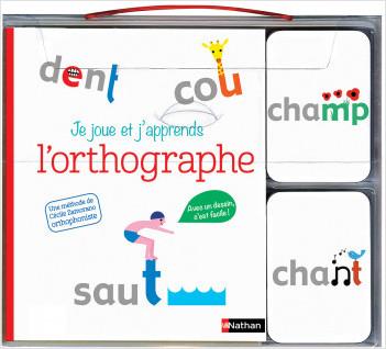 Je joue et j'apprends l'orthographe - coffret livre + cartes - Dès 5 ans