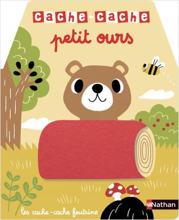 Cache-cache petit ours - Livre matière - éveil - Dès 6 mois