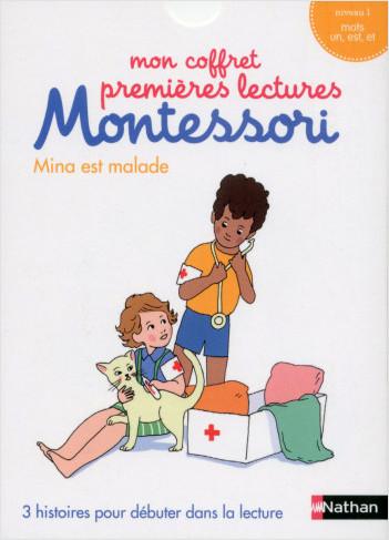 Mon coffret premières lectures Montessori : Mina est malade - Niveau 1 - 4/7 ans