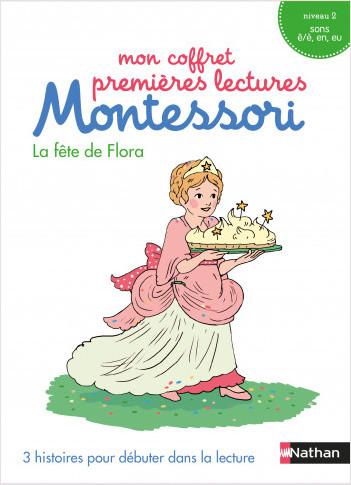 Mon coffret premières lectures Montessori : La fête de Flora - Niveau 2 - 4/7 ans