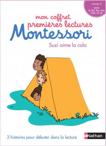 Mon coffret premières lectures Montessori : Suzi aime la colo - Niveau 3 - 4/7 ans