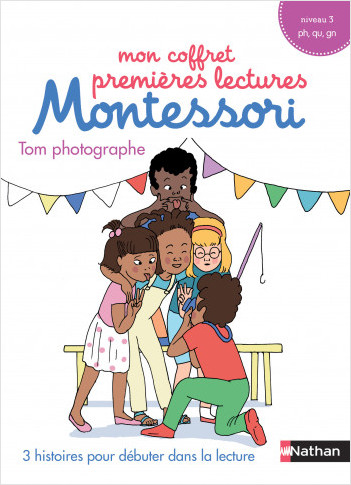 Mon coffret premières lectures Montessori : Tom photographe - Niveau 3 - 4/7 ans