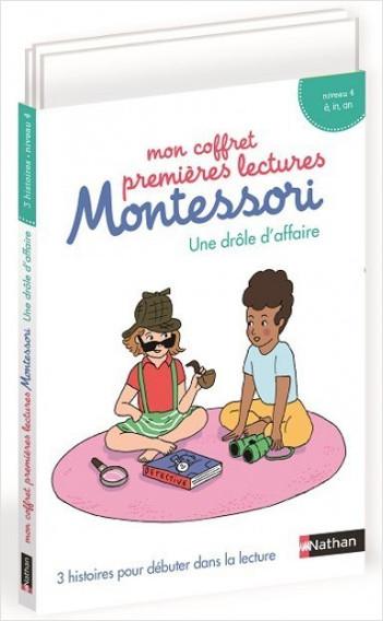 Mon coffret premières lectures Montessori - une drôle d'affaire - Niveau 4 - 4/7 ans