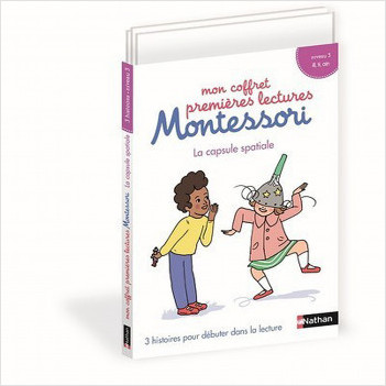 Mon coffret premières lectures Montessori - La capsule spatiale - Niveau 3 - 4/7 ans