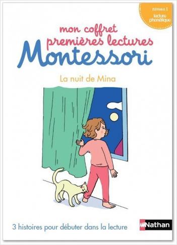 Mon coffret premières lectures Montessori - La nuit de Mina - Niveau 1 - 4/7 ans