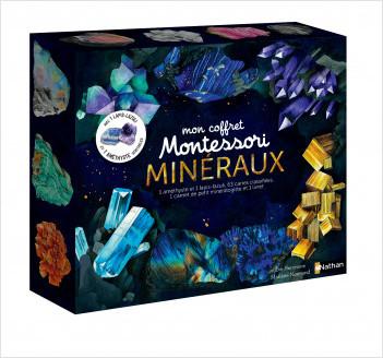 Mon coffret Montessori des minéraux - Avec 2 pierres véritables - Dès 5 ans