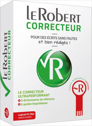 Le Robert Correcteur - Logiciel PC/Mac 3 postes - Correction d'orthographe, dictionnaires et guides de français
