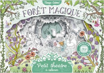 Petit théâtre à colorier - Forêt magique