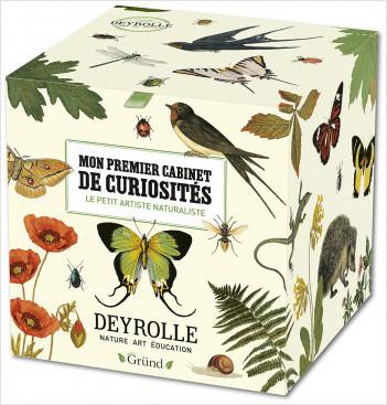 Mon premier cabinet de curiosités Deyrolle : Coffret de papeterie artiste en herbe – Kit avec 1 herbier, 1 cahier de coloriage, 1 loupe, des origamis, stickers, cartes à gratter – À partir de 6 ans
