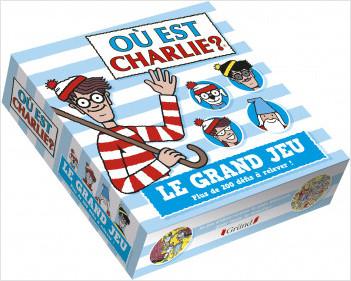 Charlie – Le grand jeu – Jeu de plateau avec des scènes de cherche-et-trouve, 200 cartes, un dé, un sablier et des pions – À partir de 6 ans