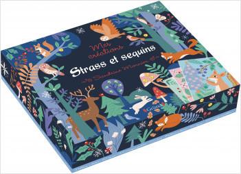 Coffret strass et sequins – Coffret de cartes, mosaïques et strass – Dès 6 ans