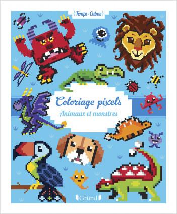 Coloriages pixels : Animaux et monstres – Album de 64 coloriages – Dès 3 ans