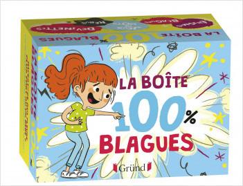 Boîte 100% Blagues – Boîte de jeu avec 130 cartes : blagues, jeux de mots et devinettes – À partir de 7 ans