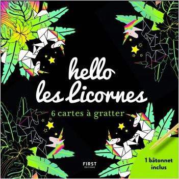 hello les licornes - 6 cartes à gratter