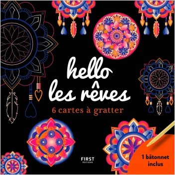 hello les rêves - 6 cartes à gratter + 1 bâtonnet incluss