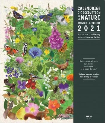 Calendrier d'observation de la nature - janvier - décembre 2021