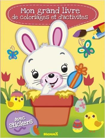 Mon grand livre de coloriages et d'activités (Pâques)