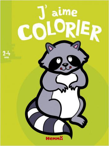 J'aime colorier (2-4 ans) (Raton-laveur)