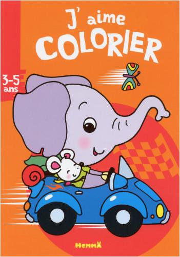 J'aime colorier (3-5 ans) (Éléphant)