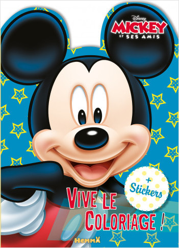 Disney Mickey et ses amis – Vive le coloriage – Livre de coloriage avec stickers – Dès 4 ans