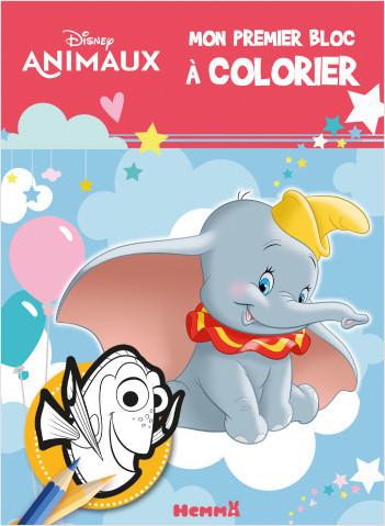 Disney Animaux – Mon premier bloc à colorier – Livre de coloriage – Dès 3 ans