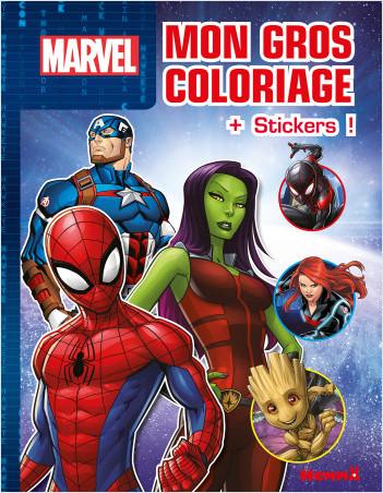Disney Marvel - Mon gros coloriage + stickers ! - Livre de coloriage avec stickers - Dès 4 ans