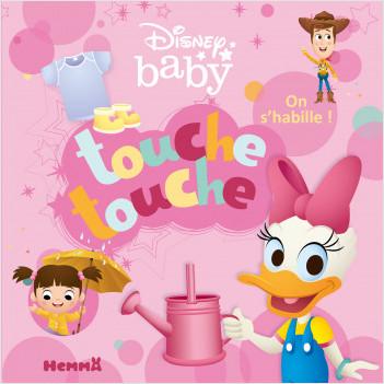 Disney Baby – Touche touche – On s'habille ! – Livre d'éveil à toucher – Dès 1 an