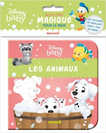 Disney Baby – Mon livre magique pour le bain – Les animaux – Livre de bain – Bébés à partir de 9 mois