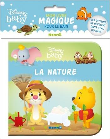 Disney Baby – Mon livre magique pour le bain – La nature – Livre de bain – Bébés à partir de 9 mois