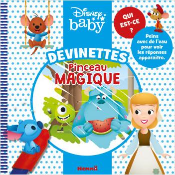 Disney Baby – Devinettes pinceau magique – Livre de devinettes avec pinceau magique – Dès 3 ans