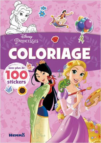 Disney Princesses – Coloriage avec plus de 100 stickers – Livre de coloriage avec stickers – Dès 4 ans