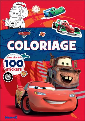 Disney Pixar Cars – Coloriage avec plus de 100 stickers – Livre de coloriage avec stickers – Dès 4 ans