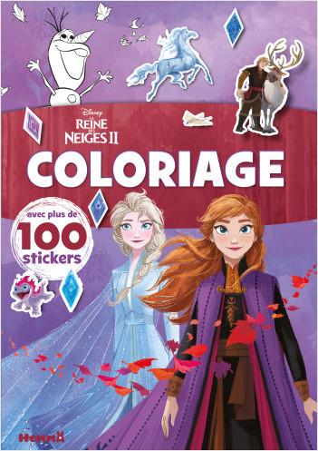 Disney La Reine des Neiges 2 – Coloriage avec plus de 100 stickers – Livre de coloriage avec stickers – Dès 4 ans