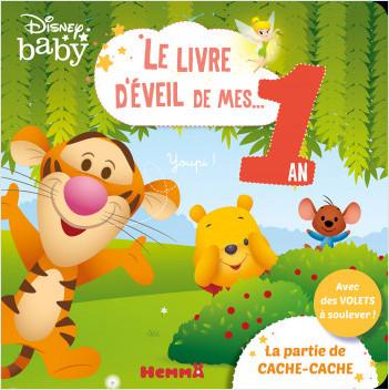 Disney Baby – Le livre d'éveil de mes 1 an – La partie de cache-cache – Livre à grands volets – Dès 1 an