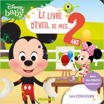 Disney Baby – Le livre d'éveil de mes 2 ans – Les couleurs – Livre à volets – Dès 2 ans