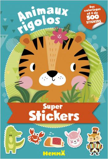 Super stickers – Animaux rigolos – Bloc de plus de 500 stickers et 30 coloriages - dès 5 ans
