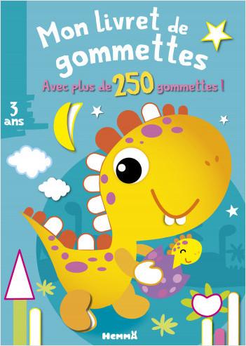 Mon livret de gommettes - + de 250 gommettes - Dinosaure jaune – Livret de gommettes – dès 3 ans