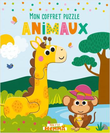 Mon P'tit Hemma - Animaux - Coffret avec 1 frise décor à colorier et 5 puzzles – dès 4 ans