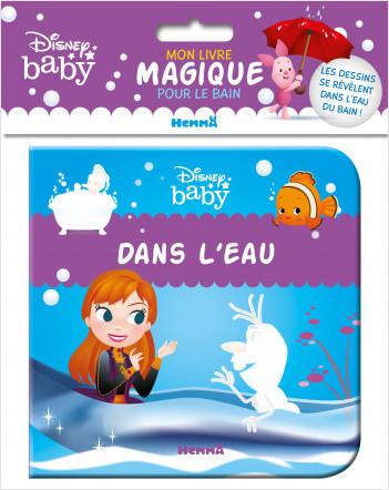 Disney Baby – Mon livre magique pour le bain – Dans l'eau – Livre de bain – Bébés à partir de 9 mois