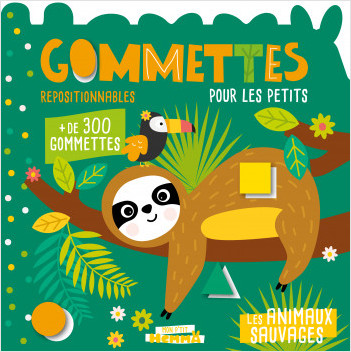 Mon P'tit Hemma – Gommettes pour les petits – Les animaux sauvages – Livre de gommettes repositionnables – dès 3 ans