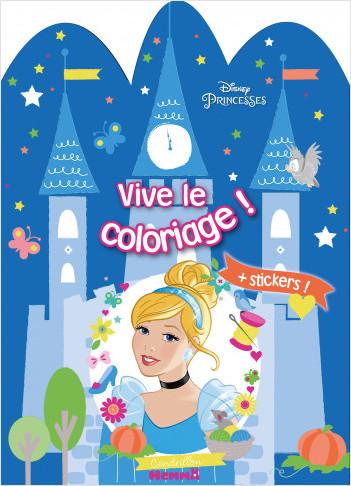 Disney Princesses – Vive le coloriage – Château Cendrillon - Livre de coloriage avec stickers – Dès 4 ans