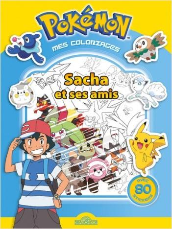 Pokémon - Mes coloriages - Sacha et ses amis