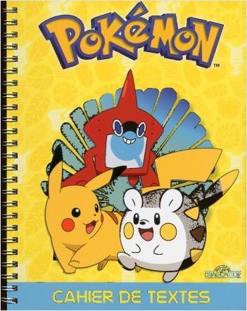 Pokémon - Cahier de textes